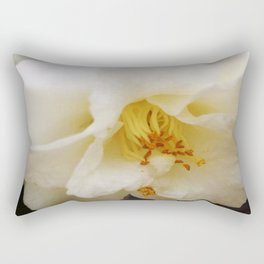 White Camellia Rectangular Pillow