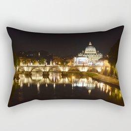 Reflections of St. Peter's on the Tiber Rectangular Pillow