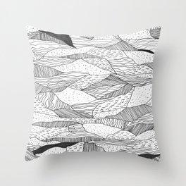 Broken Waves Throw Pillow