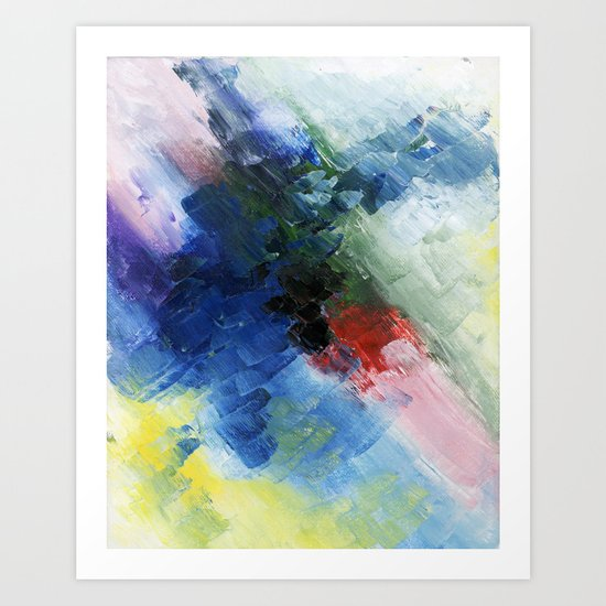 Abstract Clouds Art Print