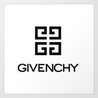 givenchy Art Prints featuring Givenchy rose by Beauti Asylum