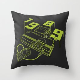 TurboGrafx-16 Line Art Console Throw Pillow