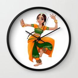 Smiling indian dancer Wall Clock