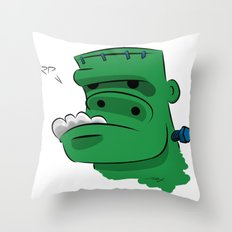 Frankenderp Throw Pillow