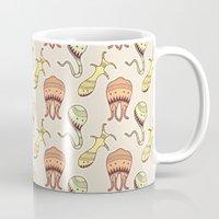 sticker Mugs featuring sticker monster pattern 4 by freshinkstain