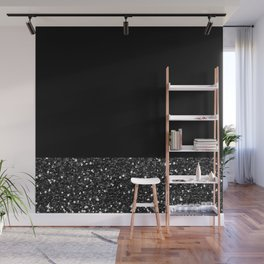 Glitter Colorblock Wall Mural