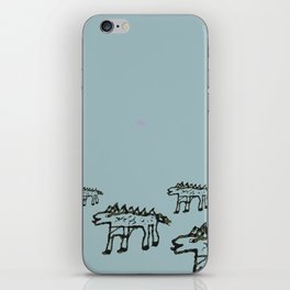 Stickleback Dragon Dogs Out Hunting iPhone Skin