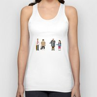 shaun of the dead Tank Tops featuring 8-bit Shaun of The Dead by MrHellstorm