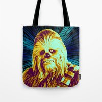 chewbacca Tote Bags featuring Chewbacca by victorygarlic
