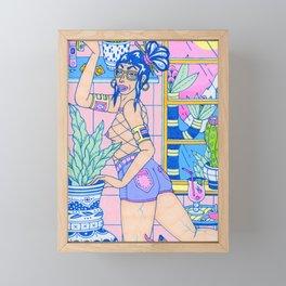 Up On The Shelf Framed Mini Art Print