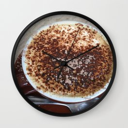 Cappuccino Coffee Drink Wall Clock