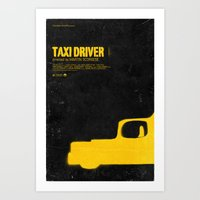 taxi driver Art Prints featuring TAXI DRIVER by maxime pecourt