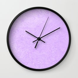 Pastel Ultra Violet Lilac Purple Grunge Ombre Pastel Texture Vintage Style Wall Clock