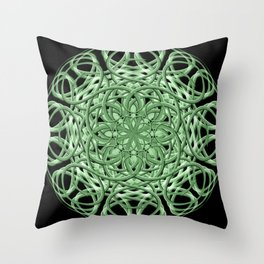 Celtic Swirl Mandala Throw Pillow