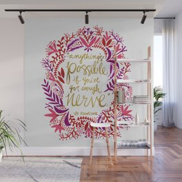 Anything's Possible – Gold & Red Wall Mural