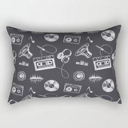 Discjockey Pattern | DJ Music Vinyl Turntables Rectangular Pillow