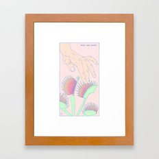 Just One Touch Framed Art Print