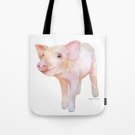Piglet 2 Watercolor Painting Tote Bag