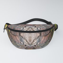 Petrified wood in abstract ... Fanny Pack