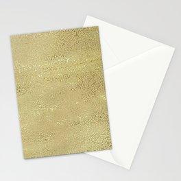Metallic yellow Stationery Cards