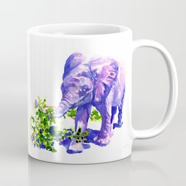 Big Boy, Purple Elephant painting of baby elephant living at David Sheldrik Wildlife Trust in Kenya Coffee Mug