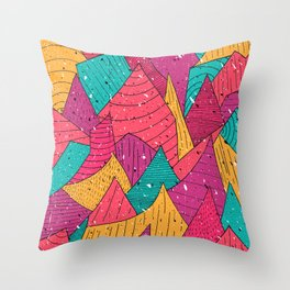 Peak Pattern Throw Pillow