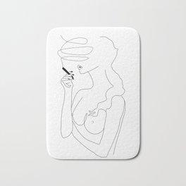 Woman Smoking Bath Mat