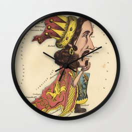 Wales Pictorial Map Wall Clock