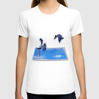 dolphins T-shirts featuring Leaping Dolphins by Roger Wedegis