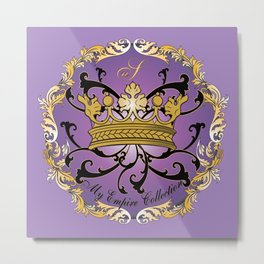 My Empire Collection Summer Set Purple Crown Metal Print