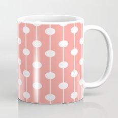 Pink Lined Polka Dot Mug