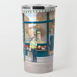 Market and Mural Merge Travel Mug