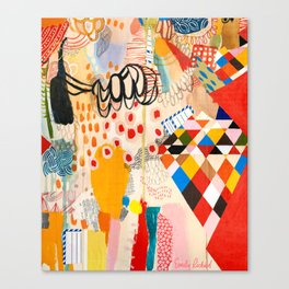 Wallpaper and Diamonds Part II Canvas Print