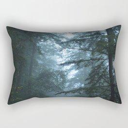 Redwoods in Fog Rectangular Pillow
