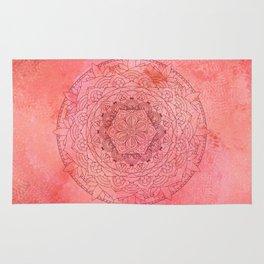 Raspberry Mandala Zen Decor Rug