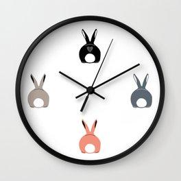 Bunny Butts Wall Clock