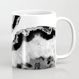 Gray Black White Agate Glitter Glamor #2 #gem #decor #art #society6 Coffee Mug
