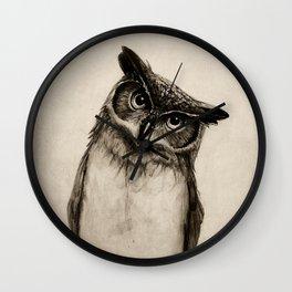 Owl Sketch Wall Clock