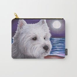 White Westie Dog Carry-All Pouch