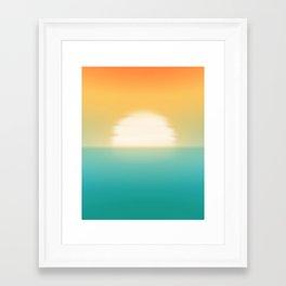 Into the horizon Framed Art Print