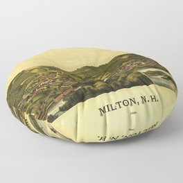 Aerial View of Milton, New Hampshire (1888) Floor Pillow