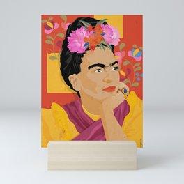 Frida - a colorful mind Mini Art Print