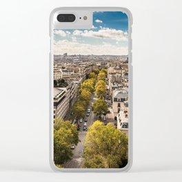 tour eiffel skyline Clear iPhone Case