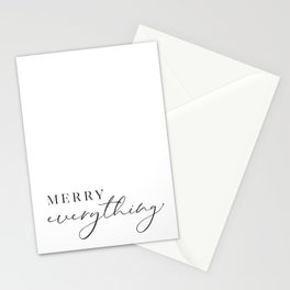 Merry everything in scandinavian style Stationery Cards