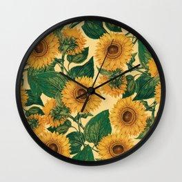 Helianthus Annuus Wall Clock