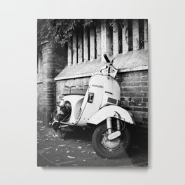 Old Scooter Metal Print