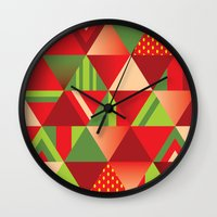 strawberry Wall Clocks featuring strawberry by Gray