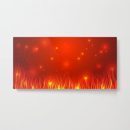Flames from the fire and spark. Metal Print