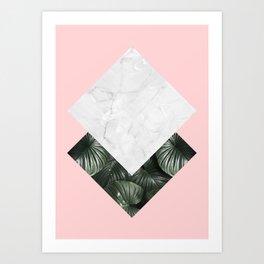 Natural polygon II. Abstract art. Minimalism. Modern. Art Print