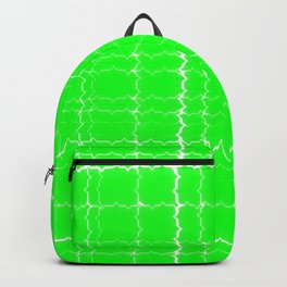 jagged, green Backpack